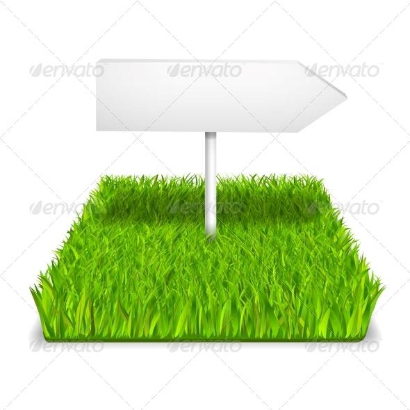 GraphicRiver Green Grass Arrow 6033679