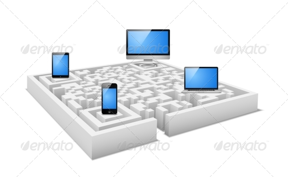 GraphicRiver Digital Labyrinth 6033690