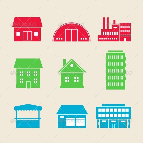 GraphicRiver Building Icons 6033693