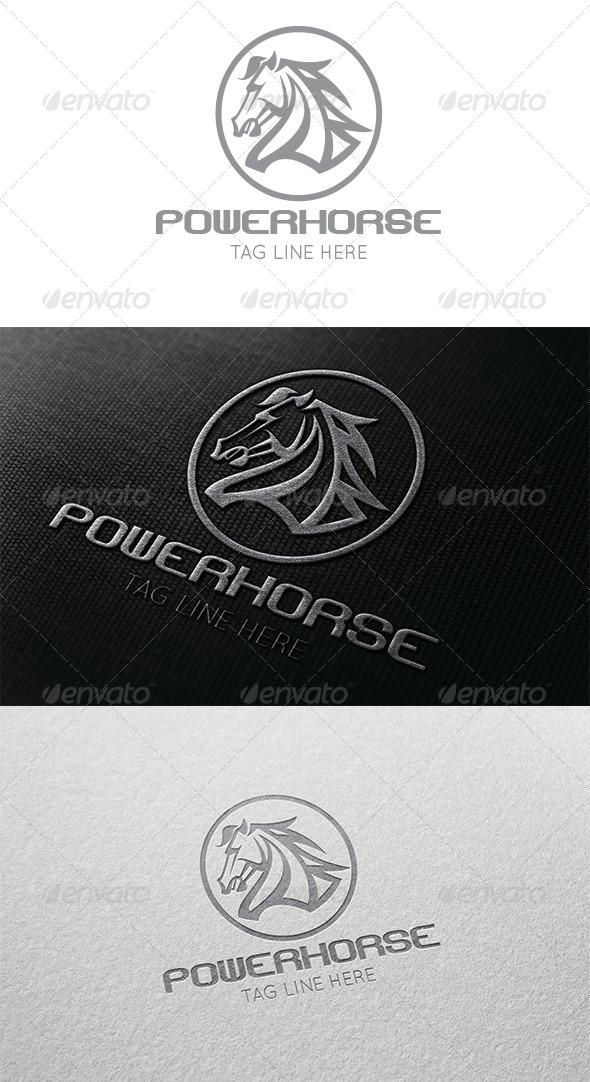 GraphicRiver Power Horse Logo 6033748
