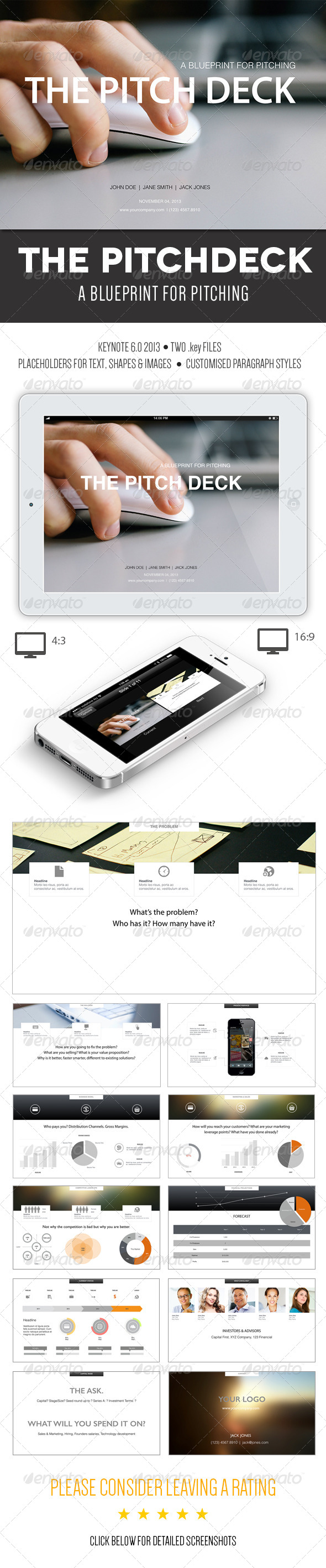 GraphicRiver The Pitch Deck A Keynote Template 6034163