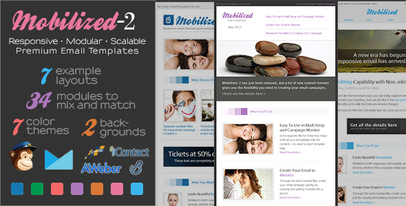 Mobilized-2 - Responsive & Modular Email Templates