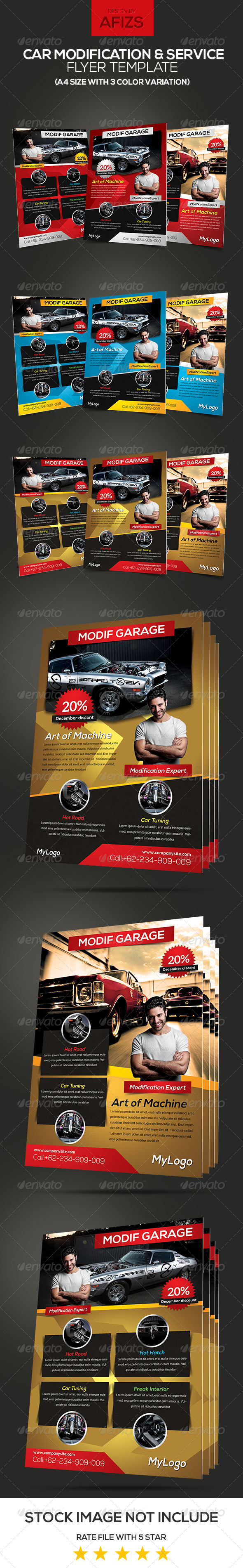 GraphicRiver Car Modification & Service Flyer 6009255