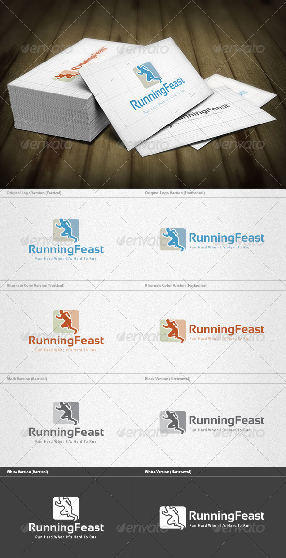 GraphicRiver Running Feast Logo 6034529