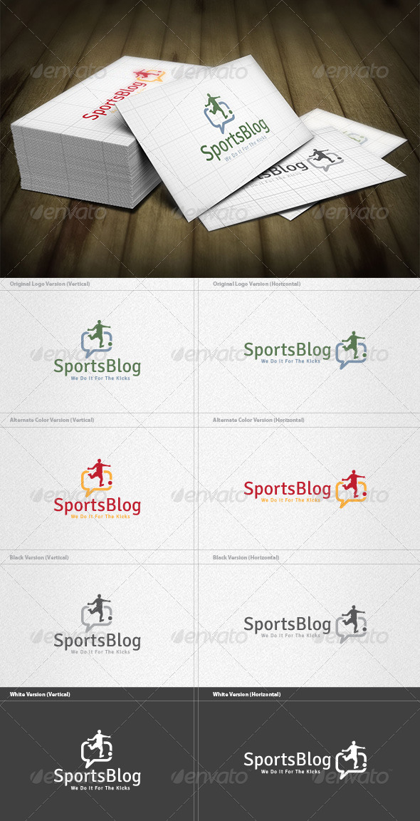 GraphicRiver Sports Blog Logo 6034530