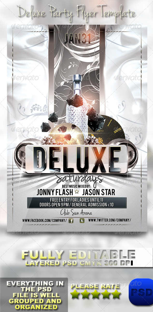 GraphicRiver Deluxe Party Flyer Template 6034775