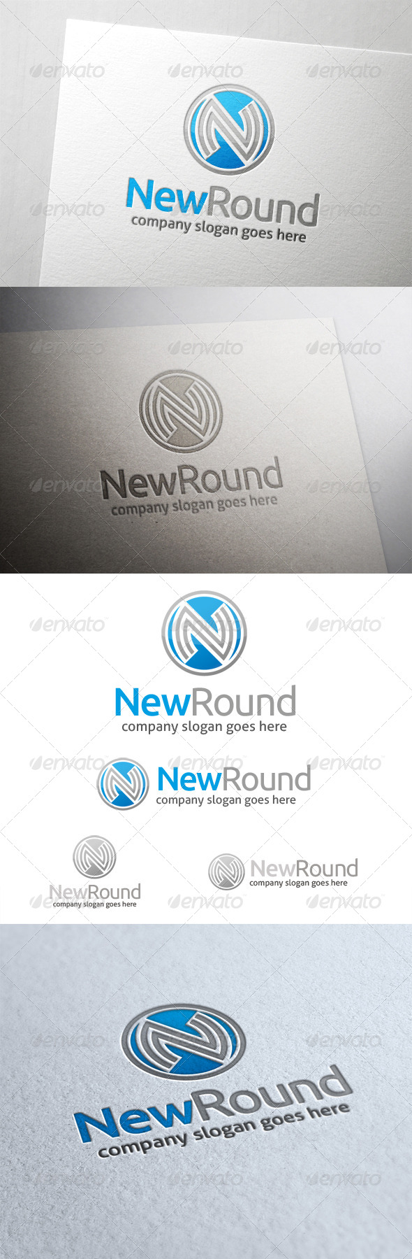 New Round Letter N Logo - Letters Logo Templates