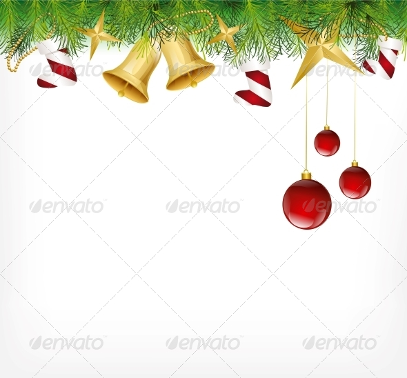 GraphicRiver Christmas Card Ornament Hanging on the Tree 6034833