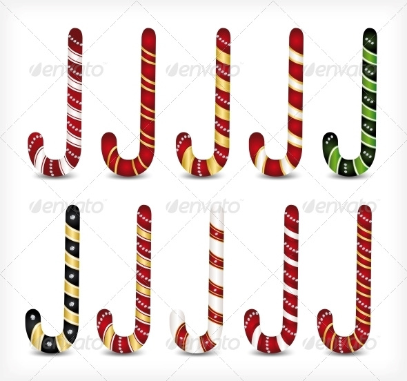 Collection of Various Candy Canes