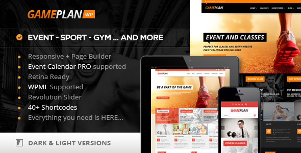 ThemeForest Gameplan Event and Gym Fitness Wordpress Theme 5936266