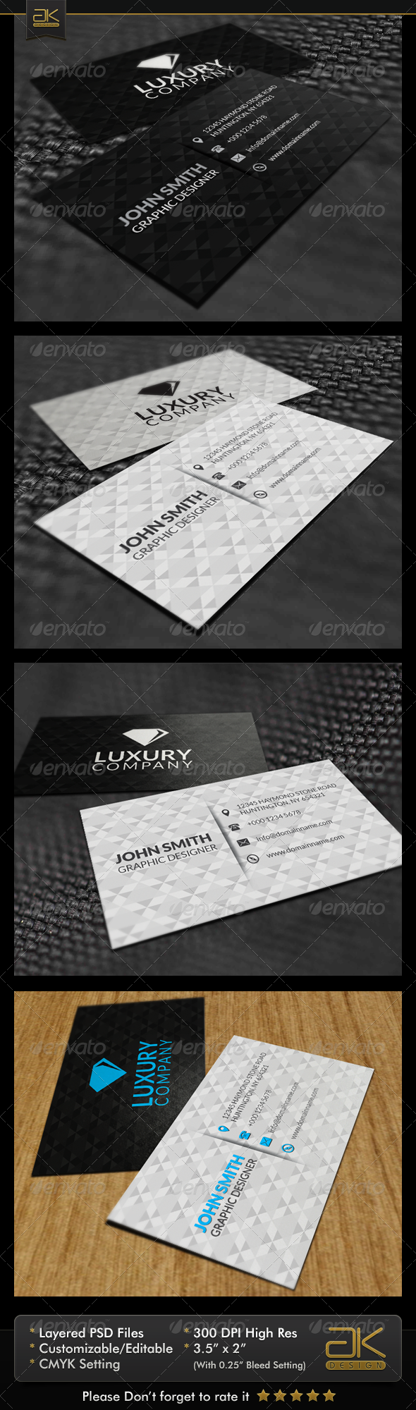 GraphicRiver Diamond Business Card 5992428