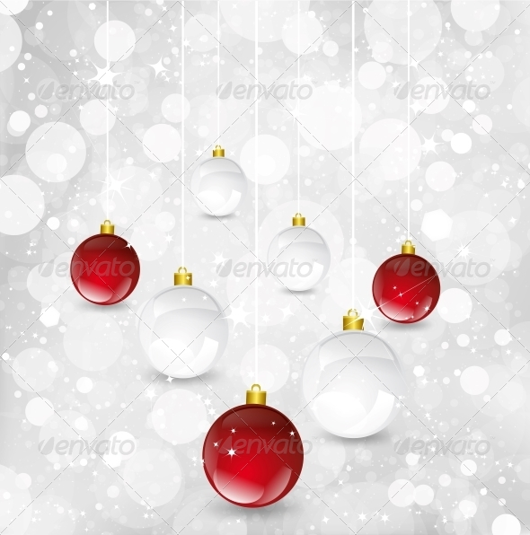GraphicRiver Christmas Background with Balls 6035008