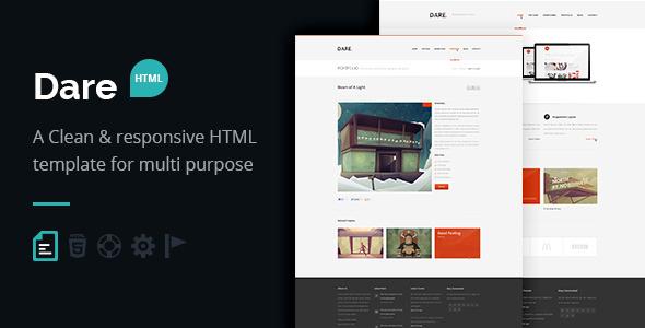 Dare - Responsive HTML Template
