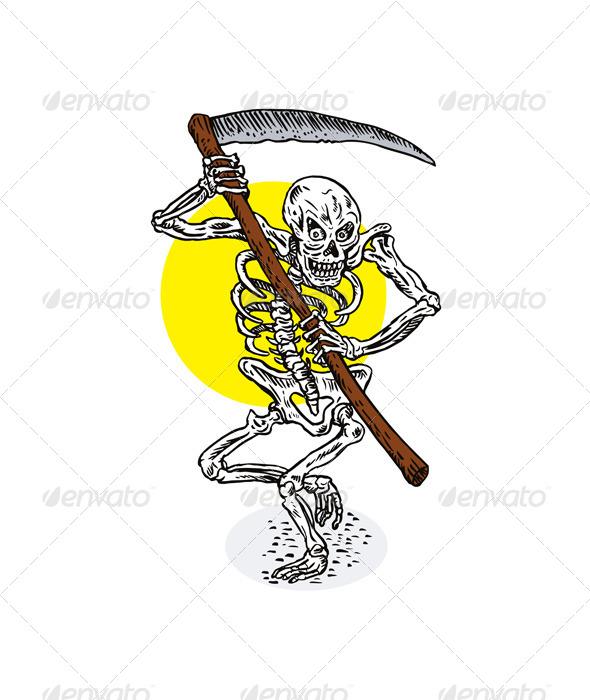 GraphicRiver Grim Reaper Skeleton Stance 6035138
