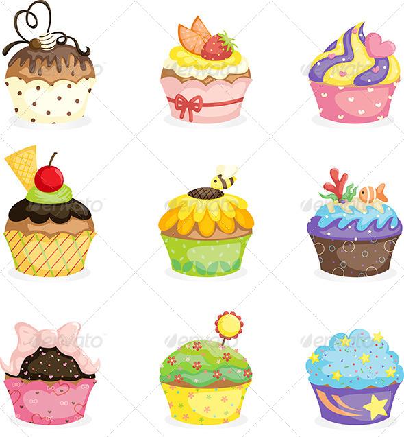 GraphicRiver Cupcakes 6035244