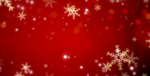 Christmas Red Glow Flakes