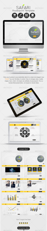 GraphicRiver Safari Powerpoint Presentation Template 6005763