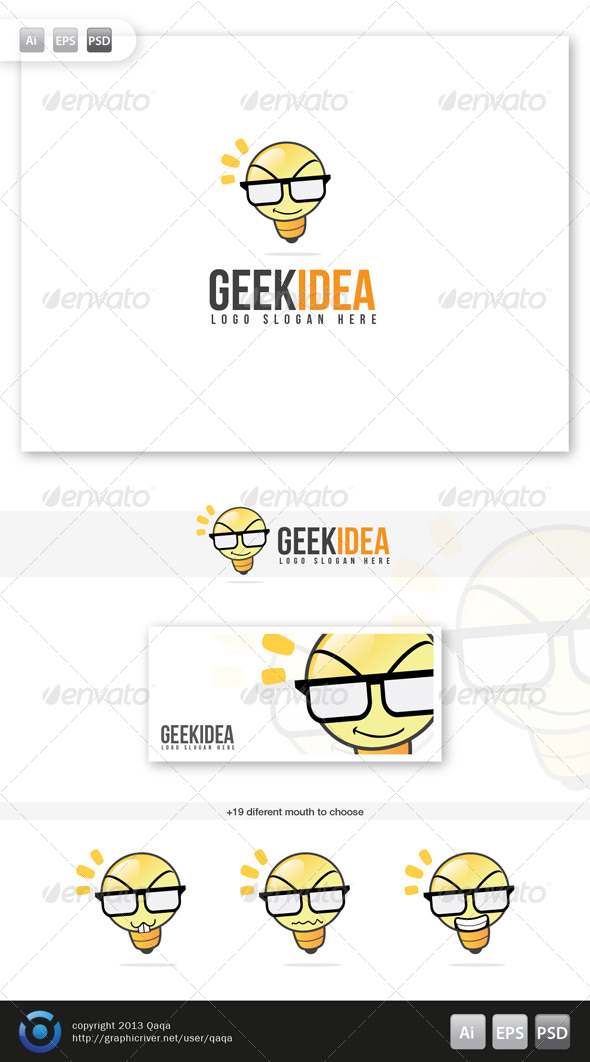 GraphicRiver Geek Idea Logo 6035678