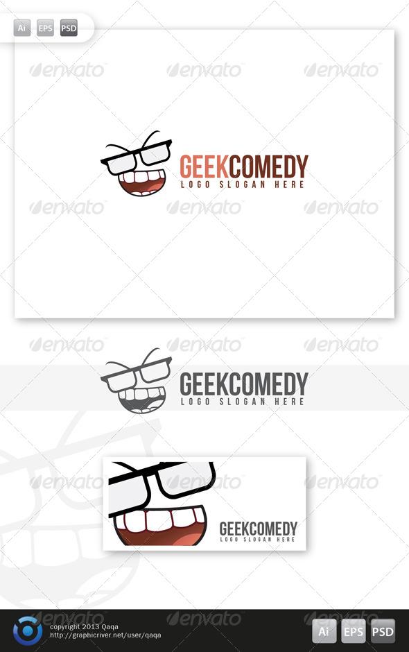GraphicRiver Geek Comedy Logo 6035777