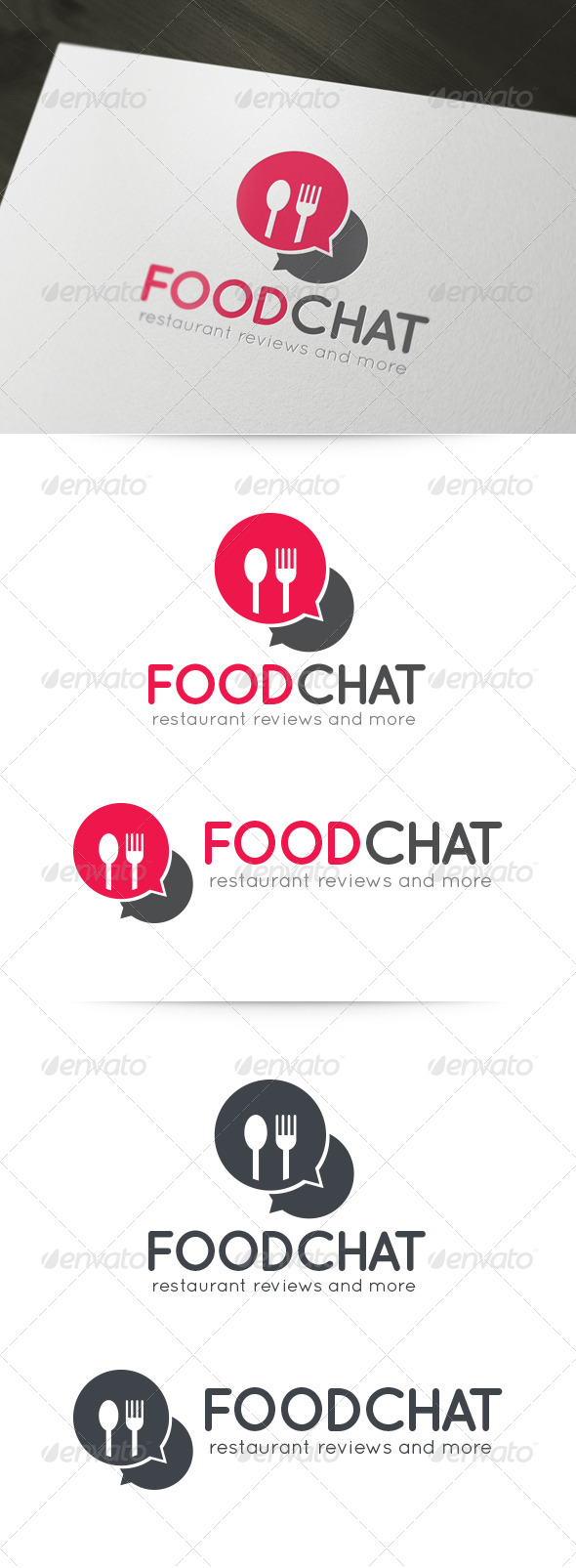 GraphicRiver Food Chat Logo 6035788