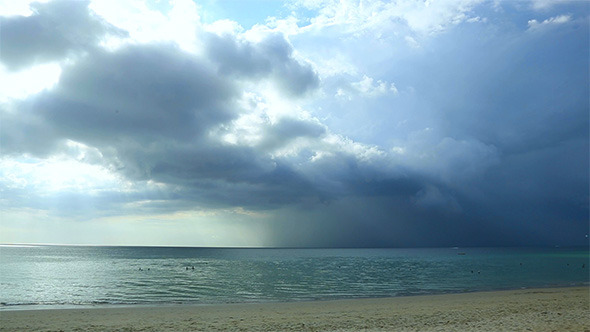 Rain Clouds Over the Sea