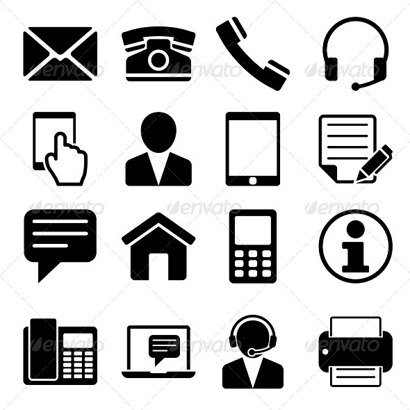 GraphicRiver Contact Us Icons Set 6035953
