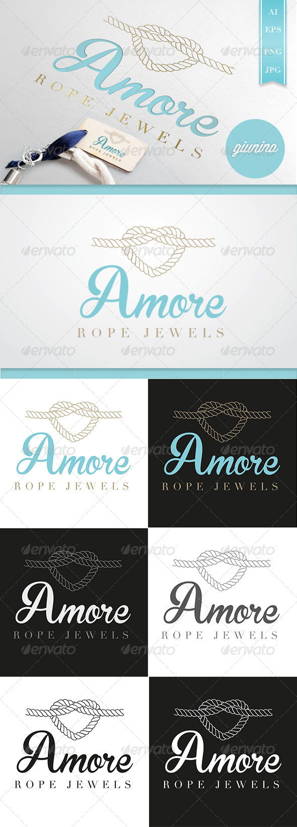 Jewels Amore Logo Template - Objects Logo Templates