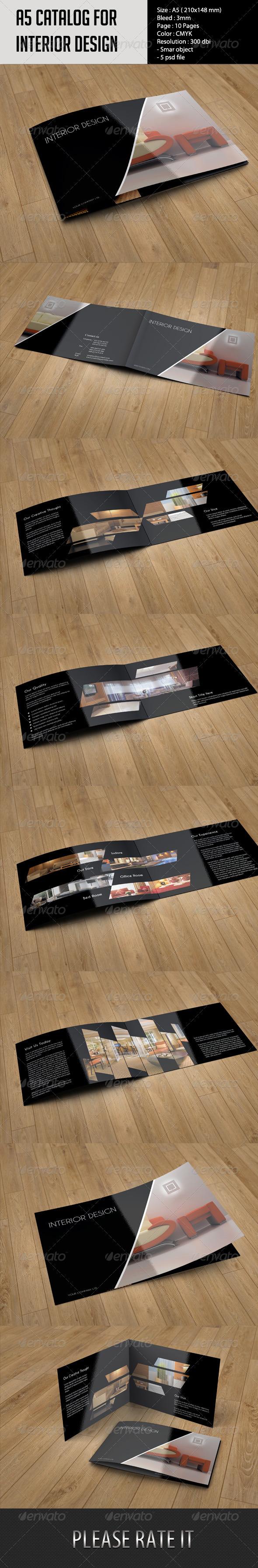 GraphicRiver A5 Catalog- Interior Design 6036204