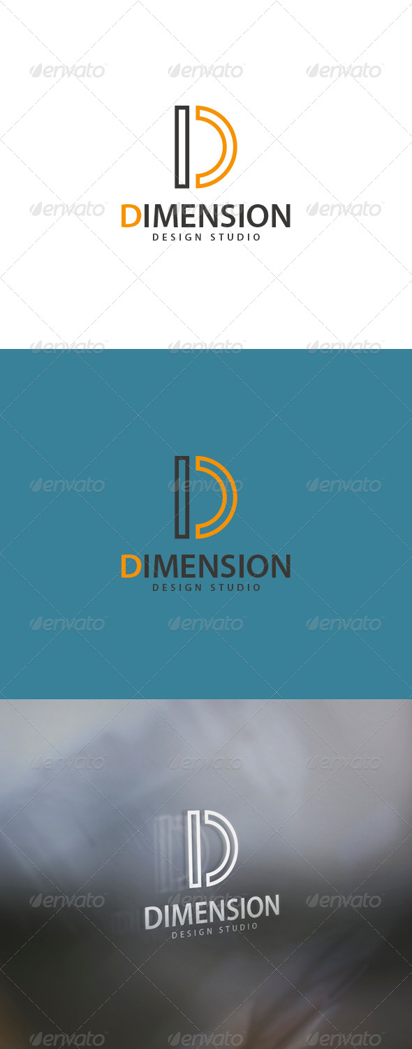 Dimension Logo - Letters Logo Templates