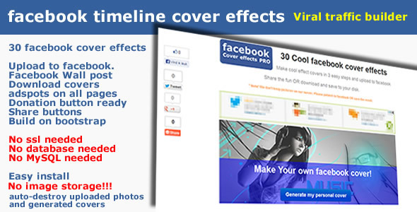 CodeCanyon Facebook Timeline Cover Effects Generator 6036385
