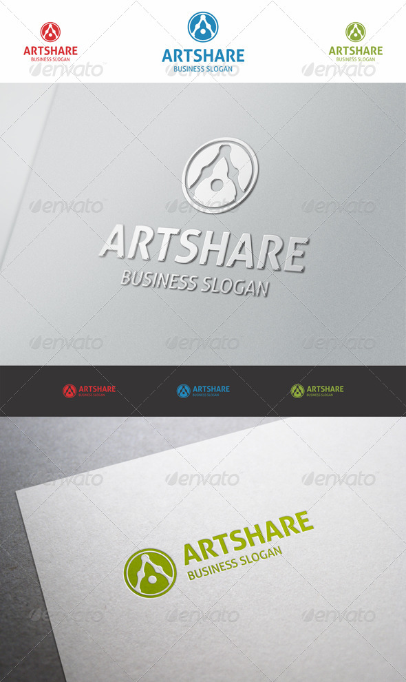 GraphicRiver Art Share Logo A 6036429