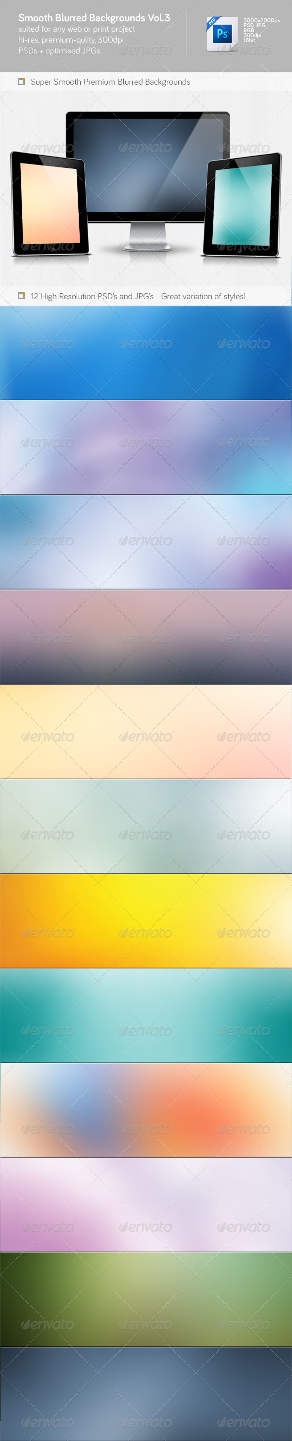 Smooth Blurred Backgrounds Vol.3