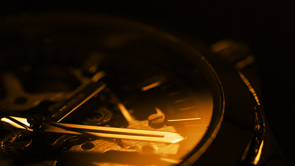 Wristwatch Close Up Light And Shadow