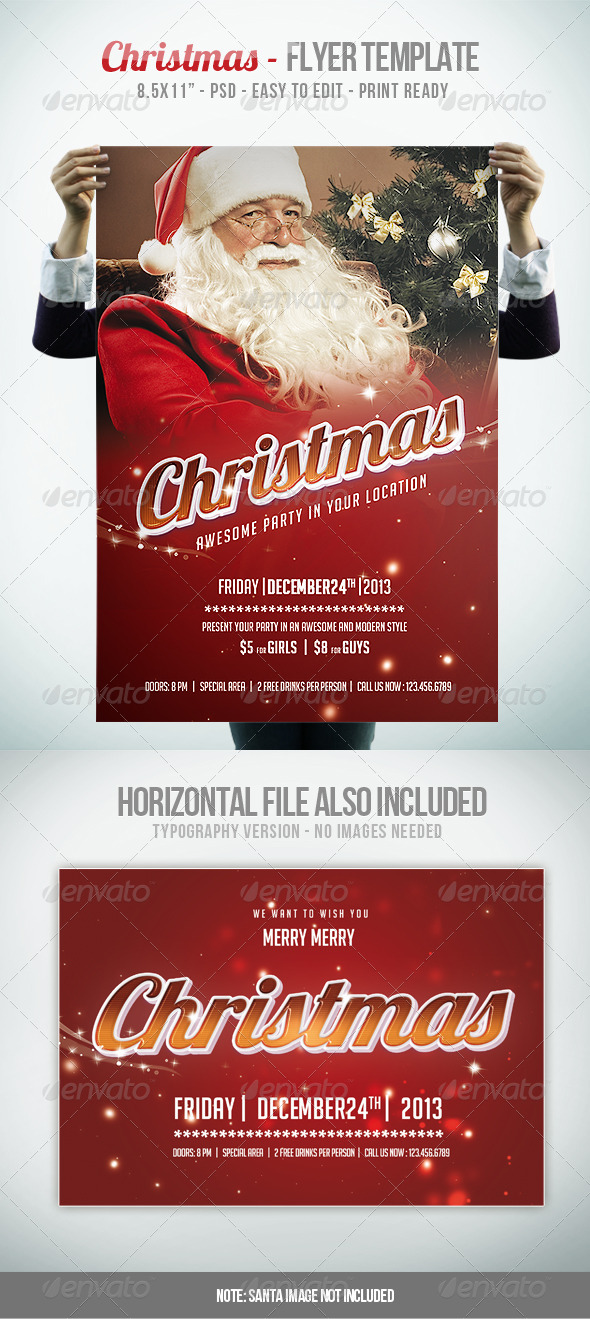 GraphicRiver Christmas IV Flyer Template 6014399