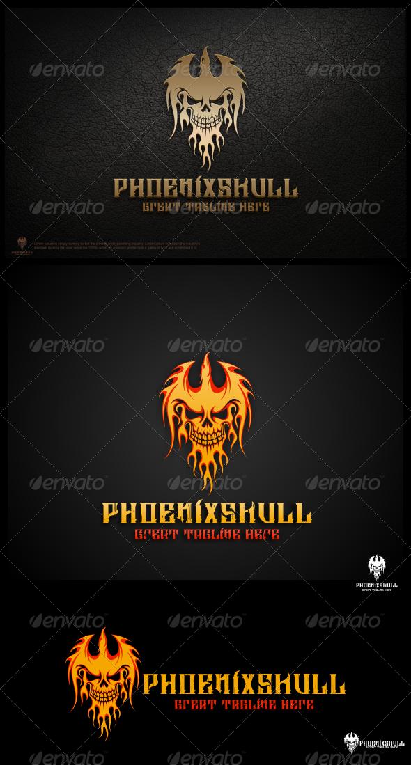 Phoenix Skull Logo Template