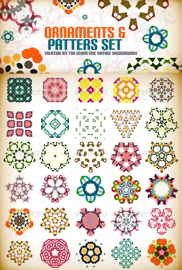 GraphicRiver Abstract Geometric Vintage Shapes for Backgrounds 6036748