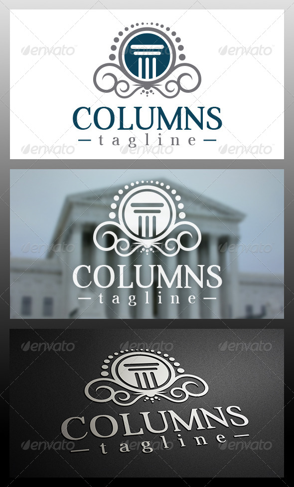 GraphicRiver Law Firm Logo Template 6036840