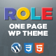 Role | One Page Responsive E-Commerce Theme - ThemeForest Item for Sale