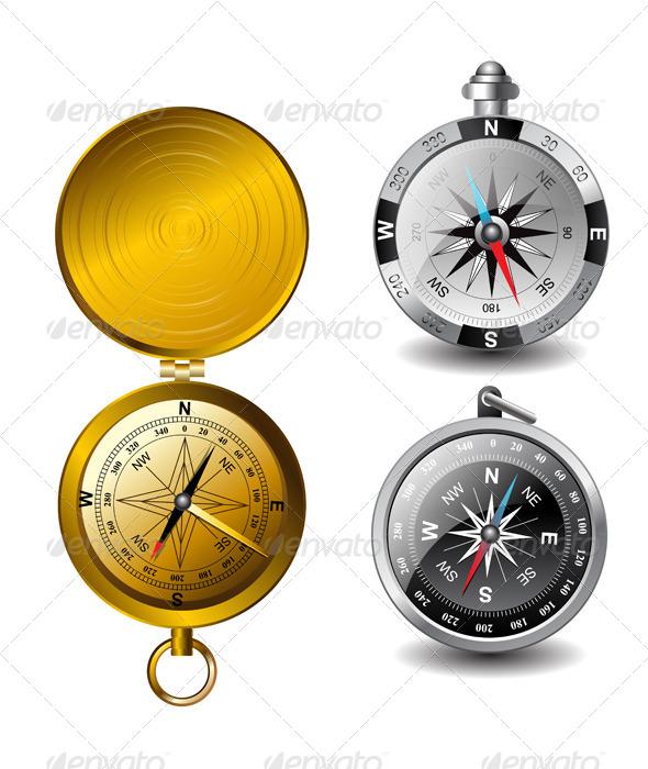 GraphicRiver Vector Compasses 6036895