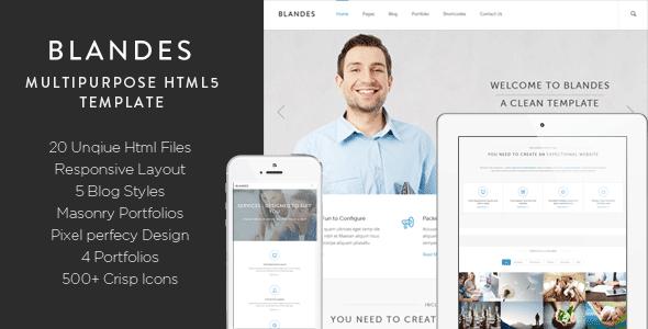 ThemeForest Blandes Multipurpose HTML5 Template 6036928