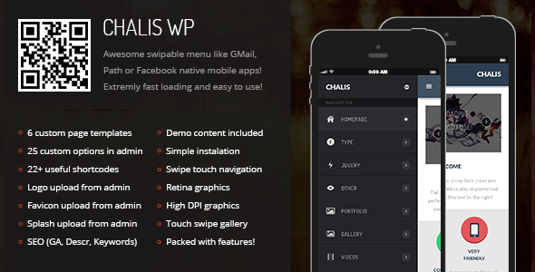 Chalis Mobile Retina | WordPress Version - Mobile WordPress