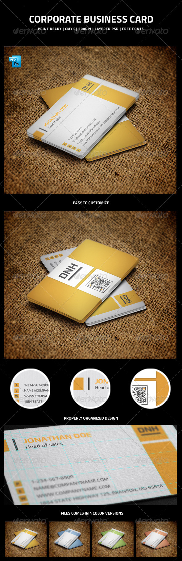 GraphicRiver Corporate Business Card 5999286