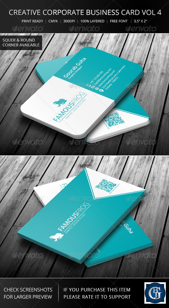 Creative Corporate Business Card Vol 5 - Corporate Business Cards