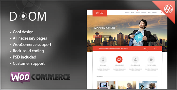 ThemeForest Doom Multipurpose Premium WordPress Theme 5984884