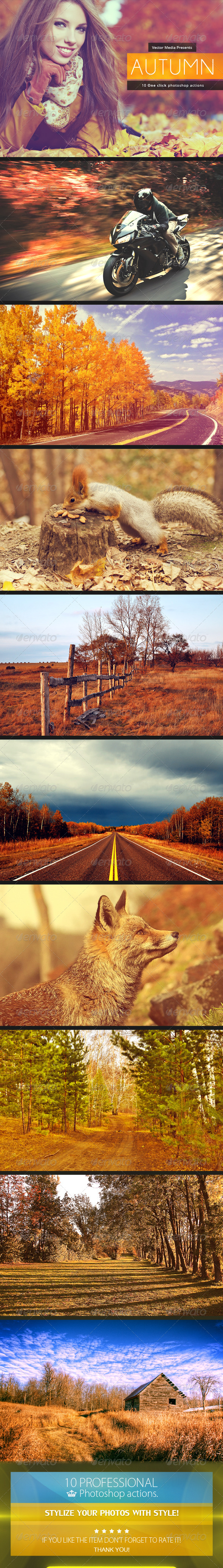 GraphicRiver Autumn Photoshop Actions 6037561