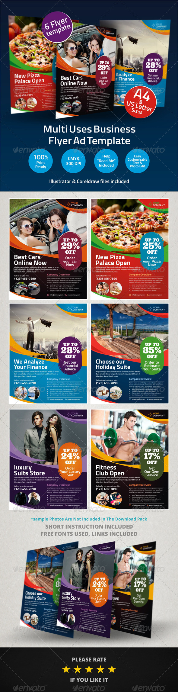 GraphicRiver Multi Uses Business Flyer Ad Template 6037654