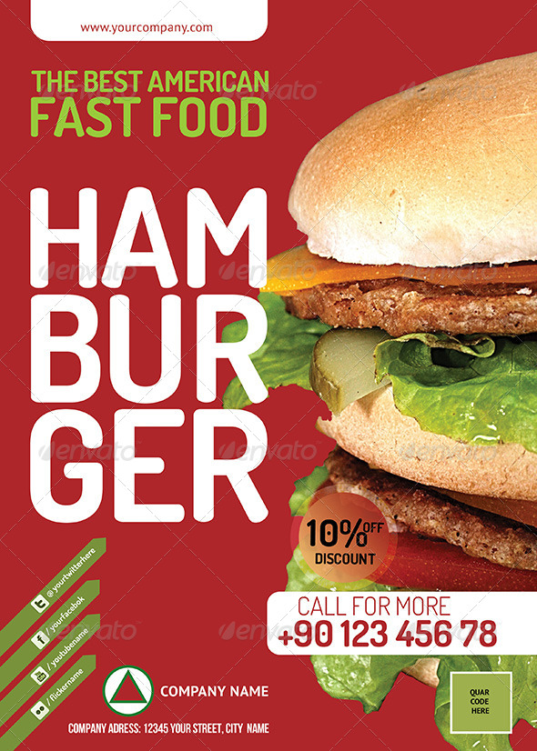 Fast Food Restauran Flyer PSD