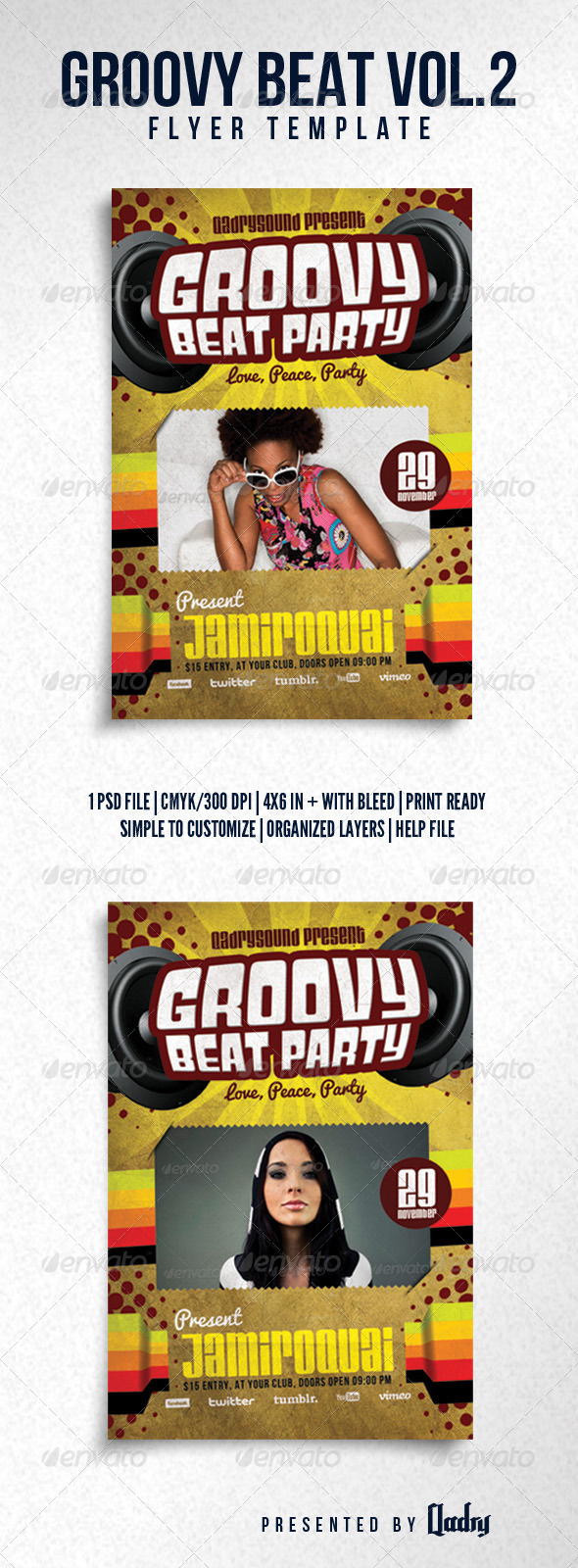 GraphicRiver Grovvy Beat Vol 2 Flyer Template 6037767