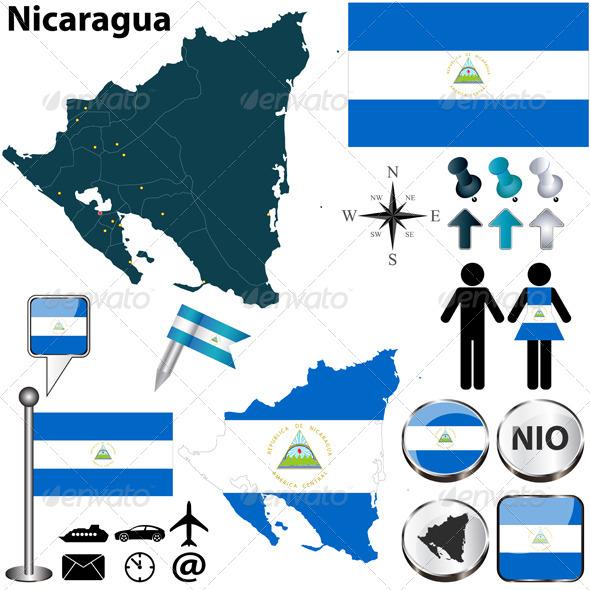 GraphicRiver Map of Nicaragua 6037788