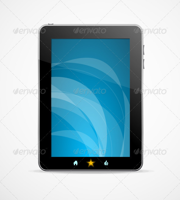 GraphicRiver Black Tablet on White Background 6037904